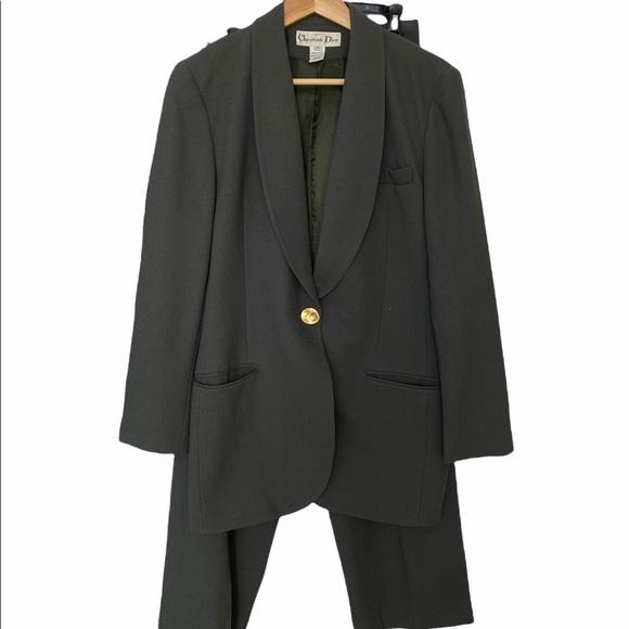 Vintage Christian Dior Suit Green Size 8